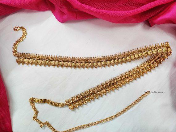 Gold Finish Lakshmi Coin Hipbelt (2)