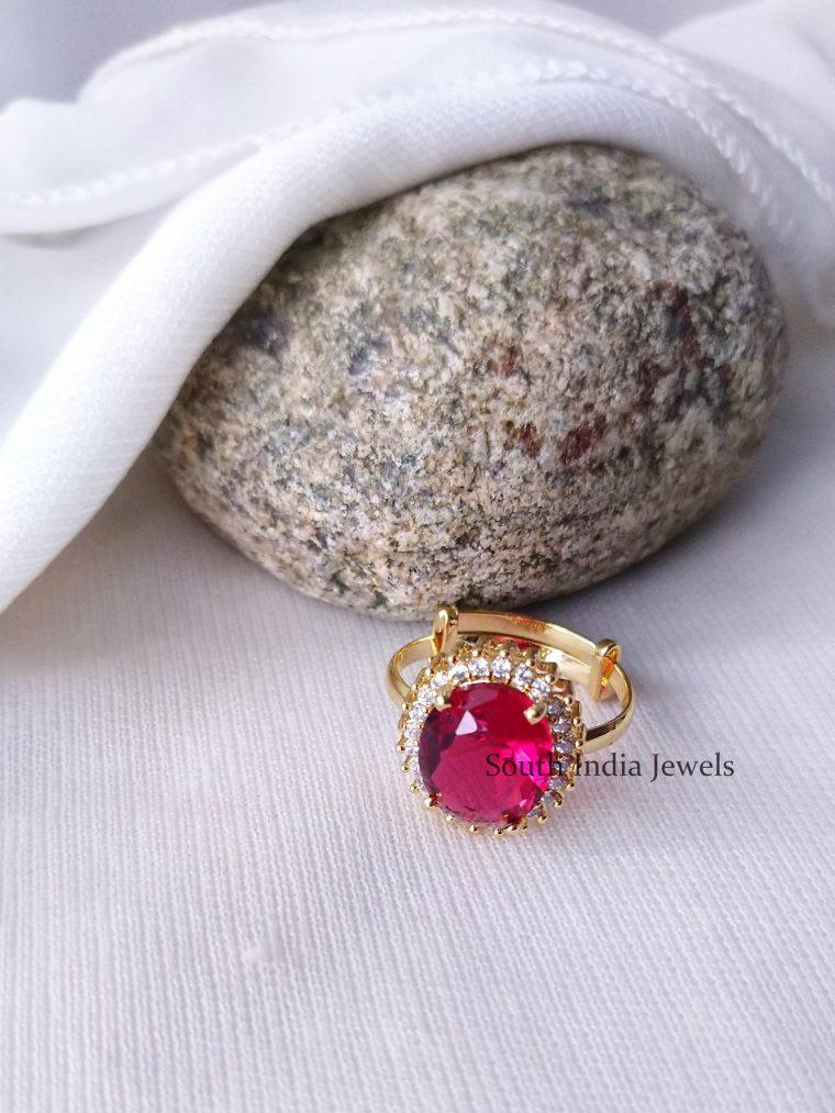Gorgeous AD Stone Finger Ring