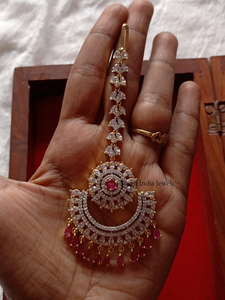 Gorgeous Diamond Finish Maang Tikka