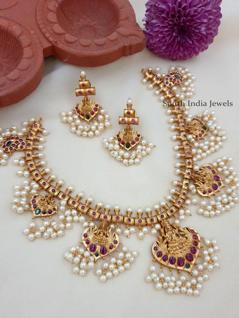 Gorgeous Lakshmi Guttapusalu Necklace Set