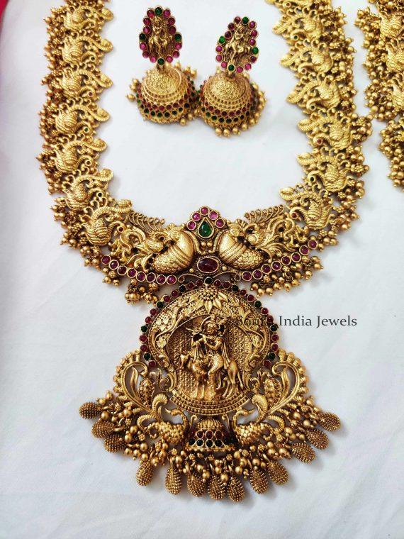 Heritage Krishna Pendant Haaram (2)