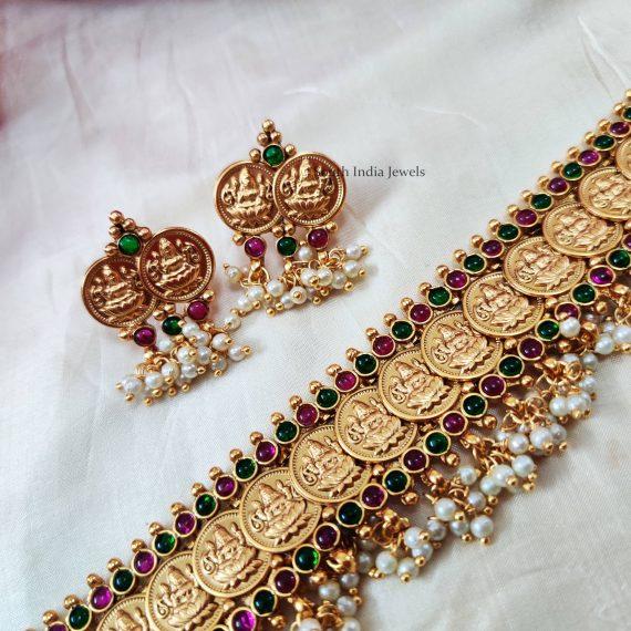 Lakshmi Coin Belt Design Choker (2)