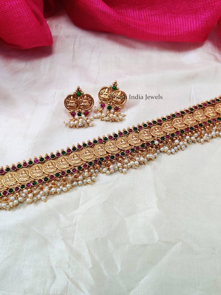 Lakshmi Coin Belt Design Choker