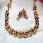 Lakshmi Motif Multi Stone Necklace (2)