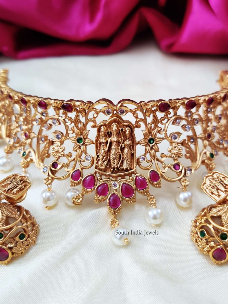 Ram Parivar & Floral Design Choker (2)