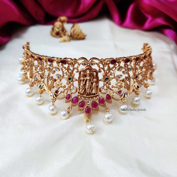 Ram Parivar & Floral Design Choker