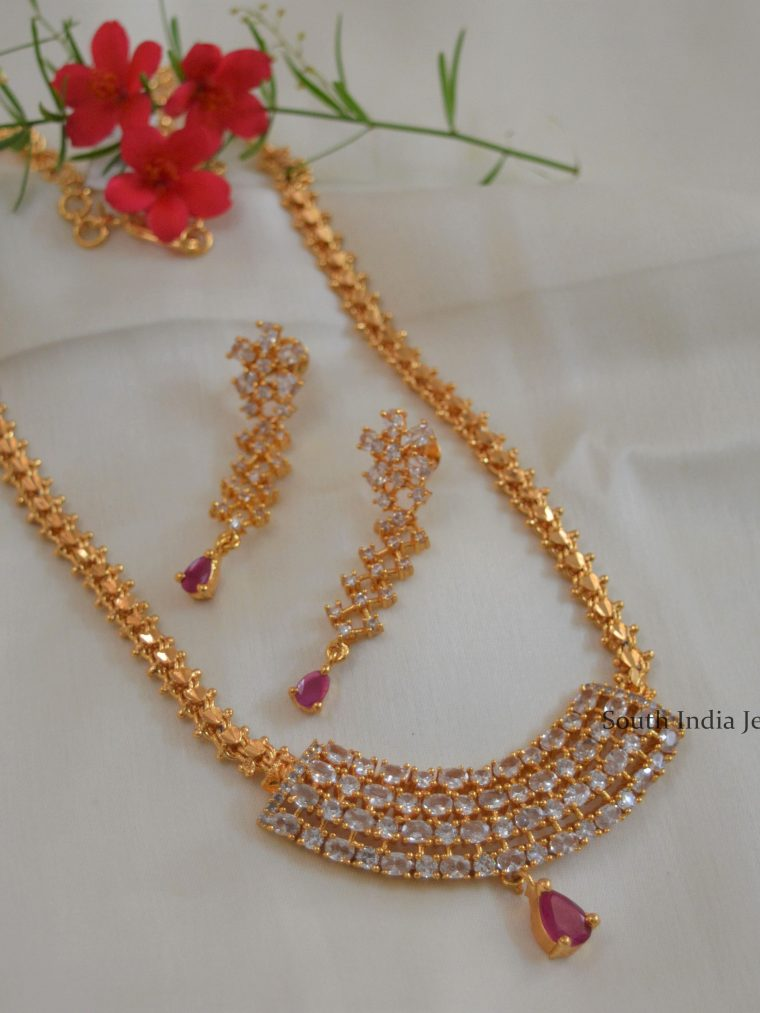 Rectangular-AD-Stones-with-Ruby-Gold-Replica-Necklace-scaled