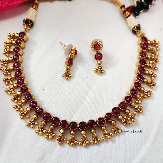 Reversible Kemp Stone Beads Necklace (2)
