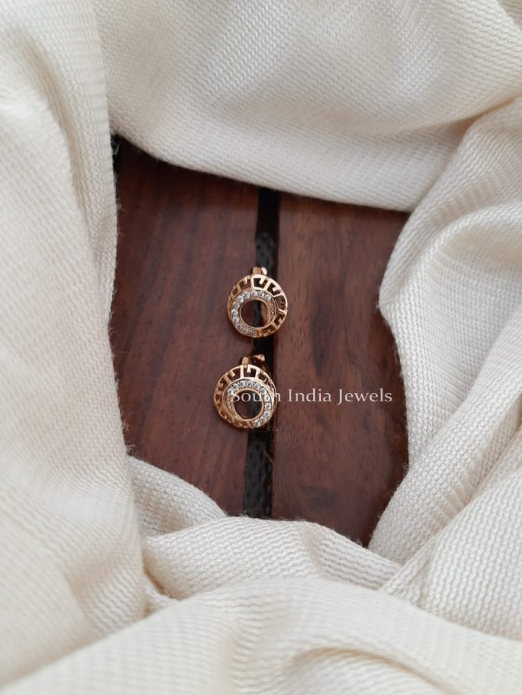 Simple CZ Bali Design Earrings -02