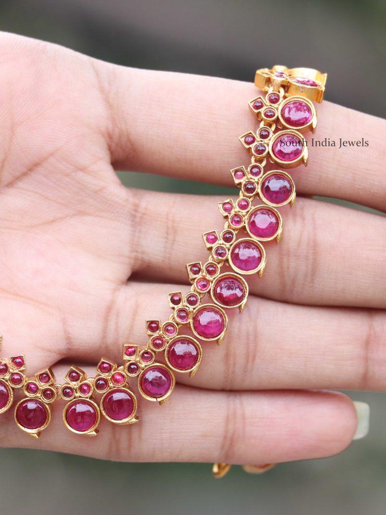 Simple Design Stone Necklace (2)