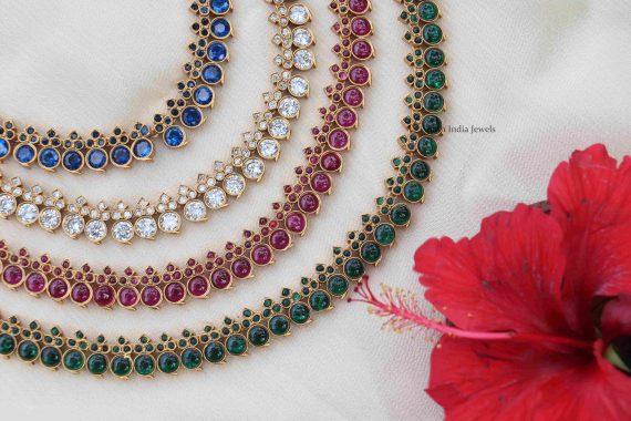 Simple Design Stone Necklace (3)