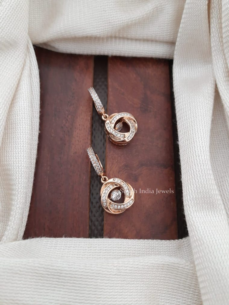 Stunning CZ Stone Bali Earrings (2)