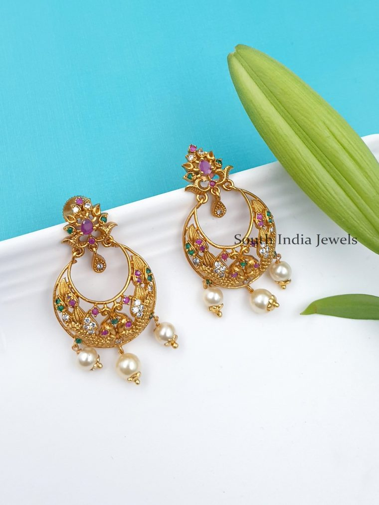 Stunning Flower Design Earrings