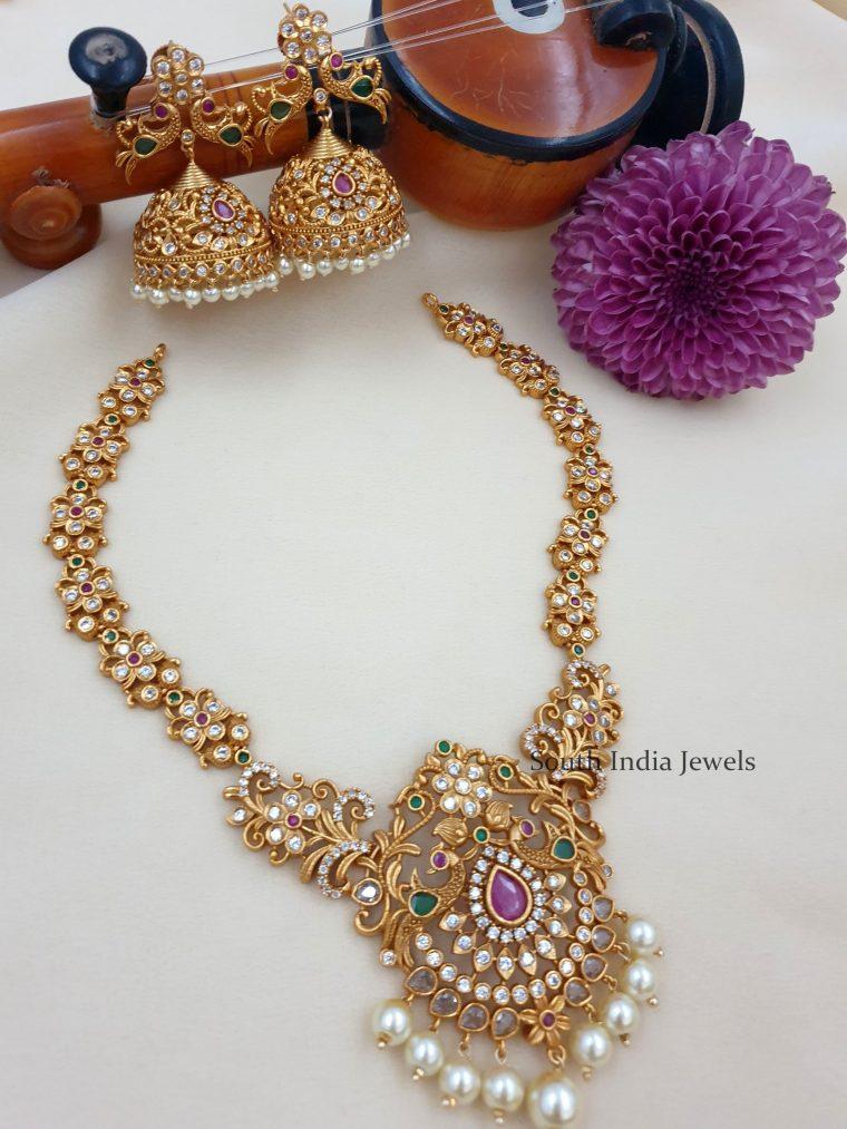 Stunning Peacock Design Necklace Set