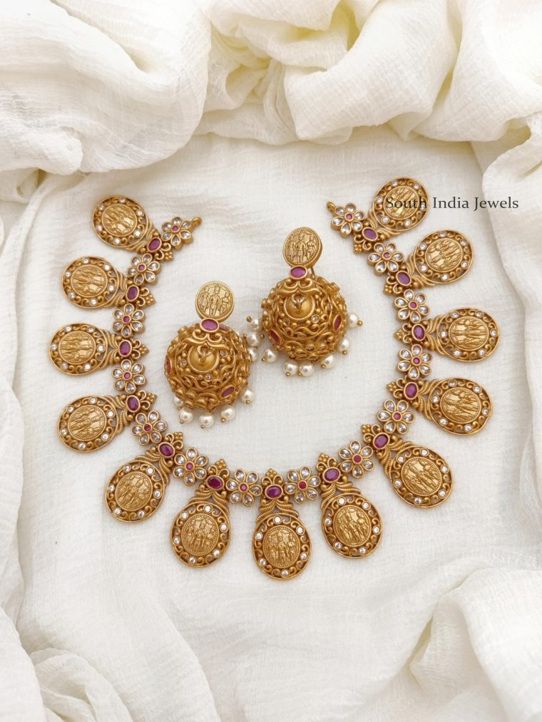 Traditional AD Stone Necklace Set