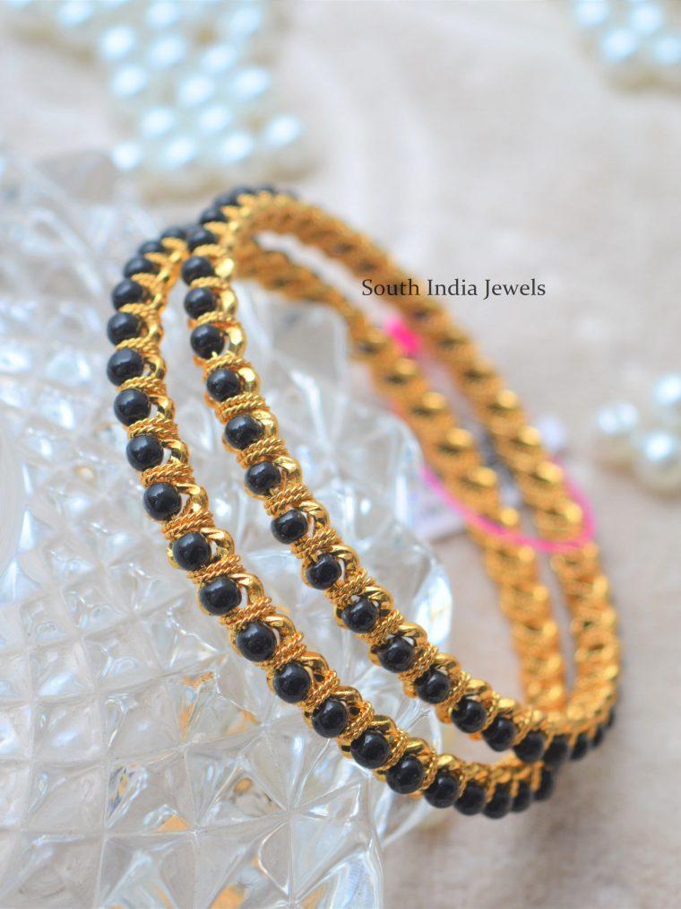 Traditional Black Beads Bangles