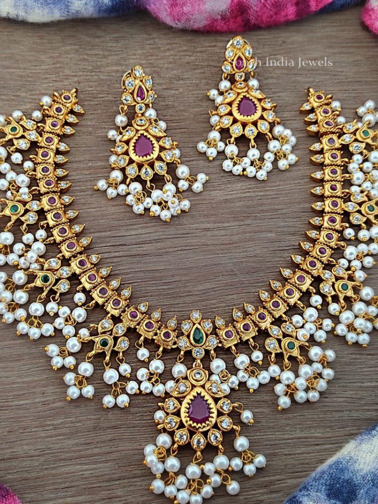 Traditional Guttapusalu Necklace Set
