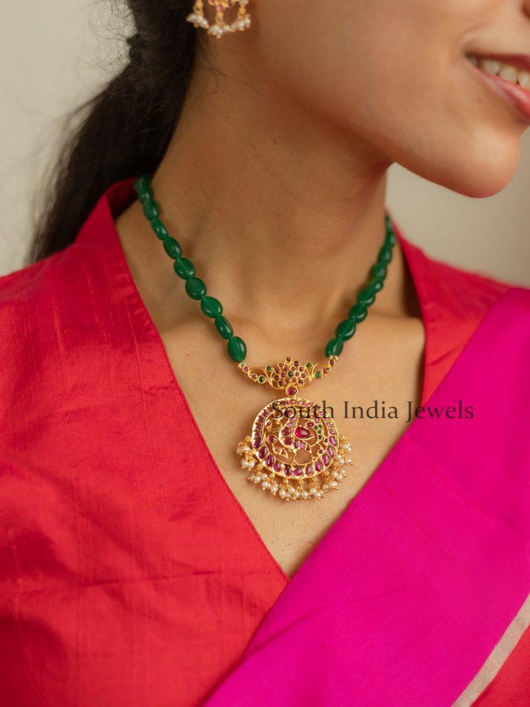 Traditional-Jade-Mala-With-Kundan-Pendant