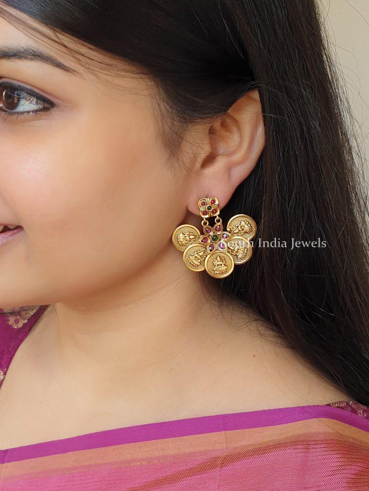 Traditional Lakshmi Coin Earrings