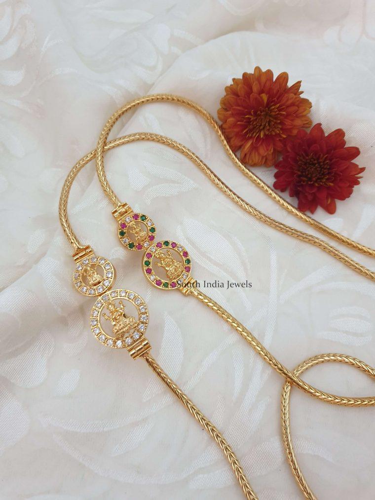 Traditional Lakshmi Design Mugappu Chain (4)