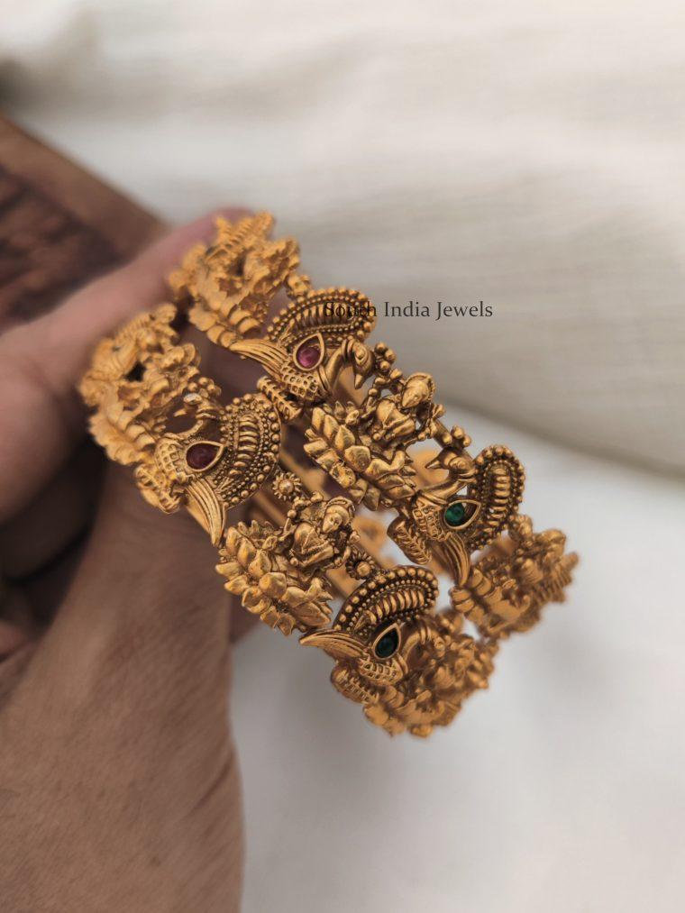 Traditional Lakshmi & Peacock Bangle Set