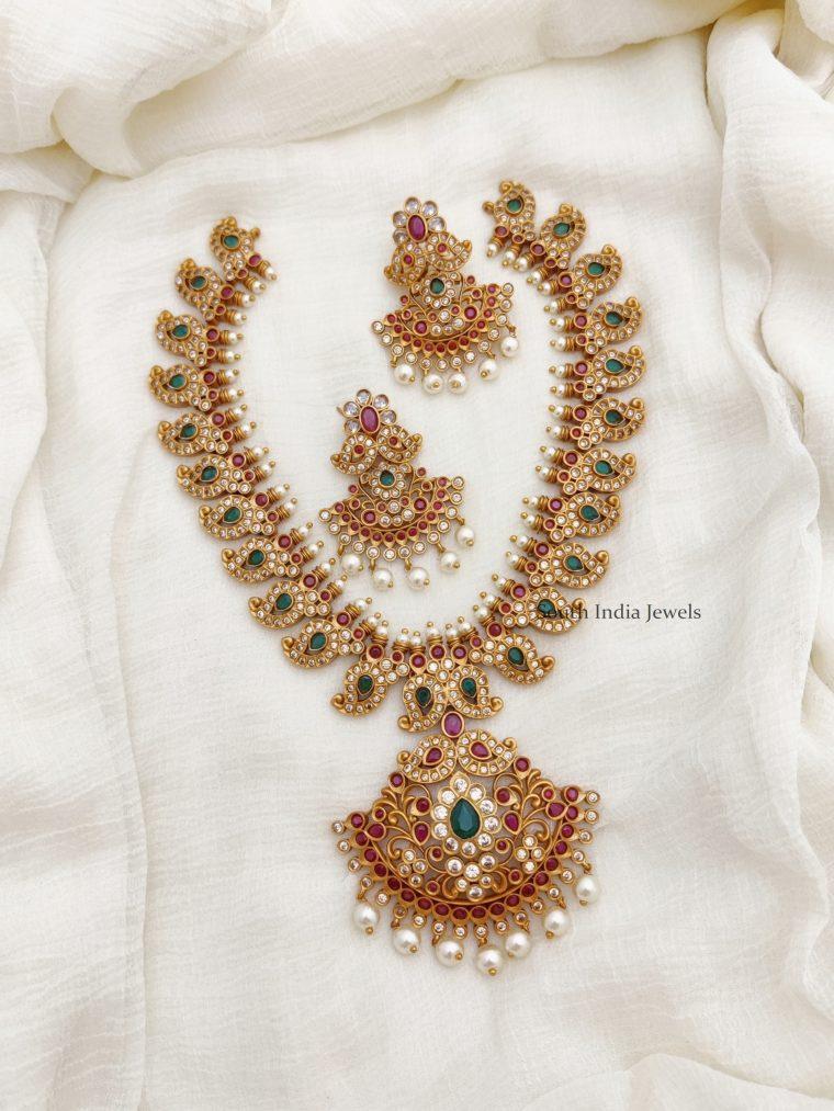 Traditional Mango Design AD Necklace (3)