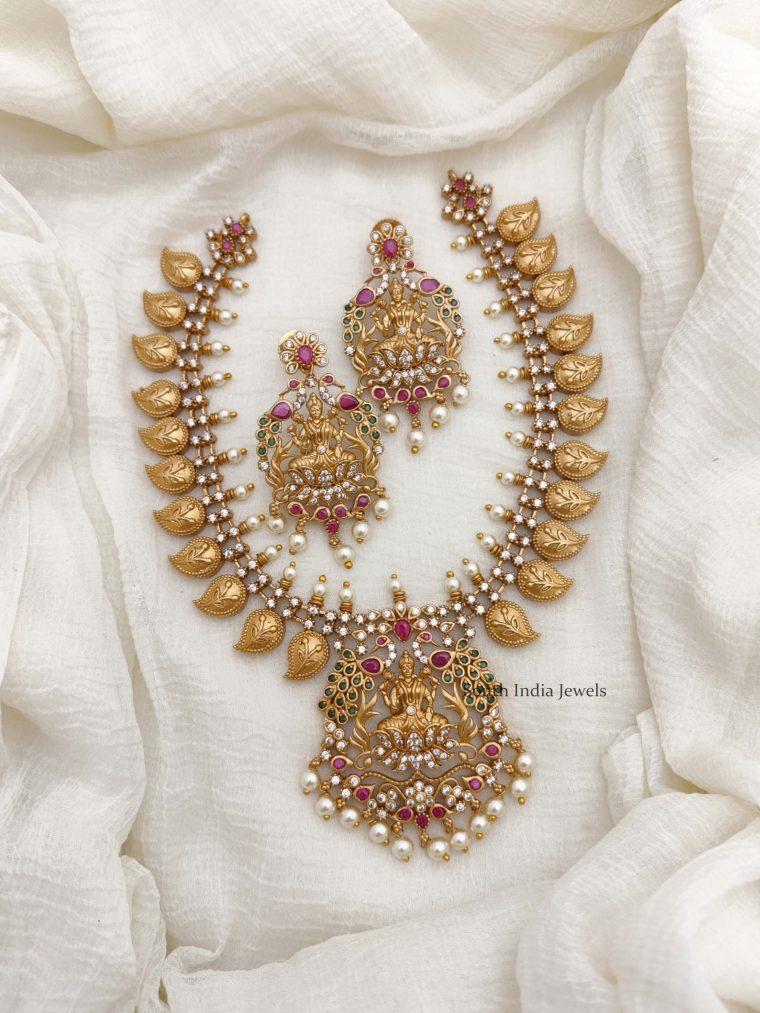 Traditional Mango Lakshmi Design Necklace (2)