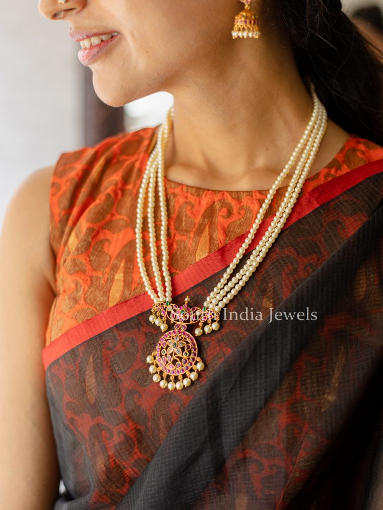 Traditional-Pearl-Mala-With-Kemp-Pendant