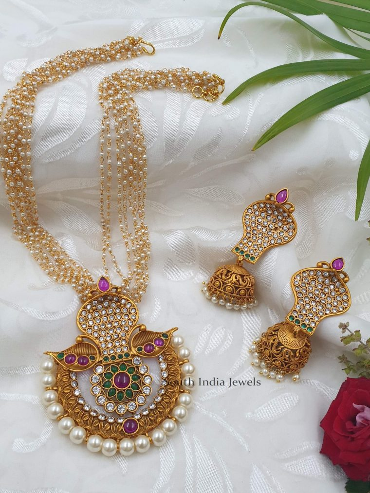 Traditional Pendant with Pearl Chain
