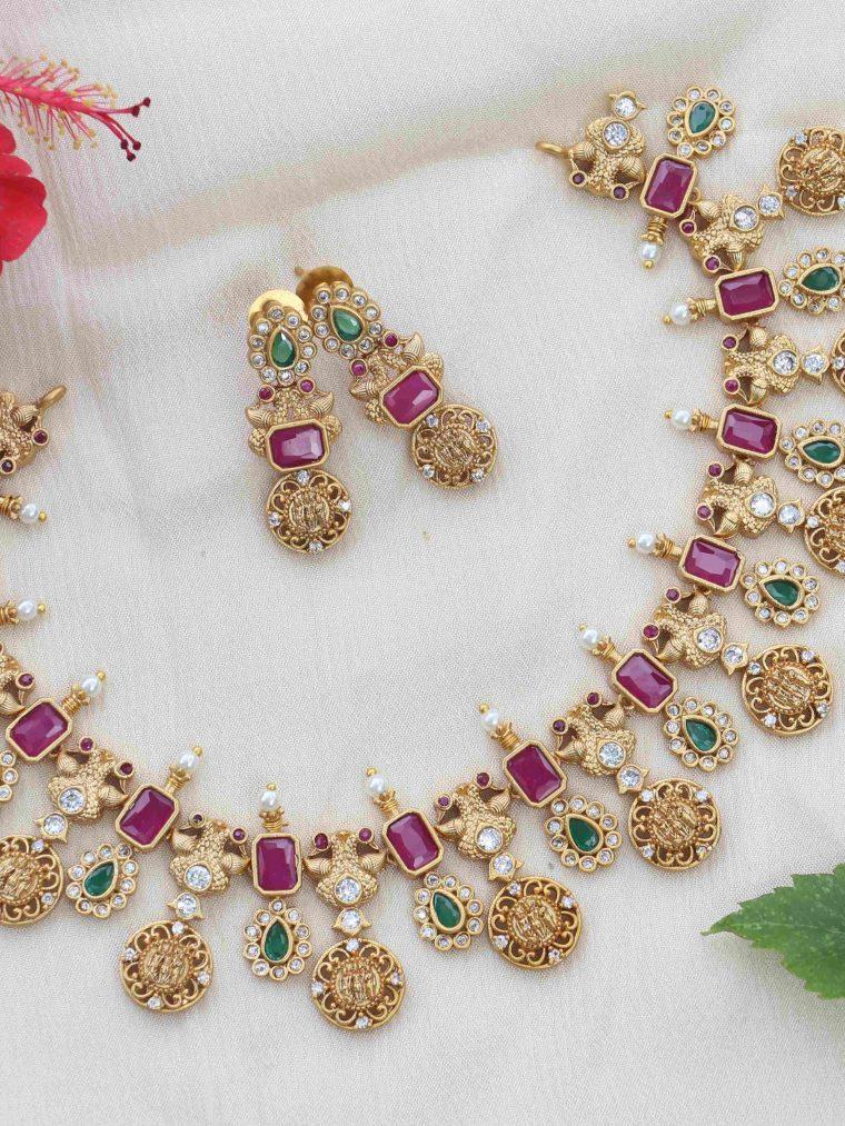 Traditional Ram Parivar Coin Necklace