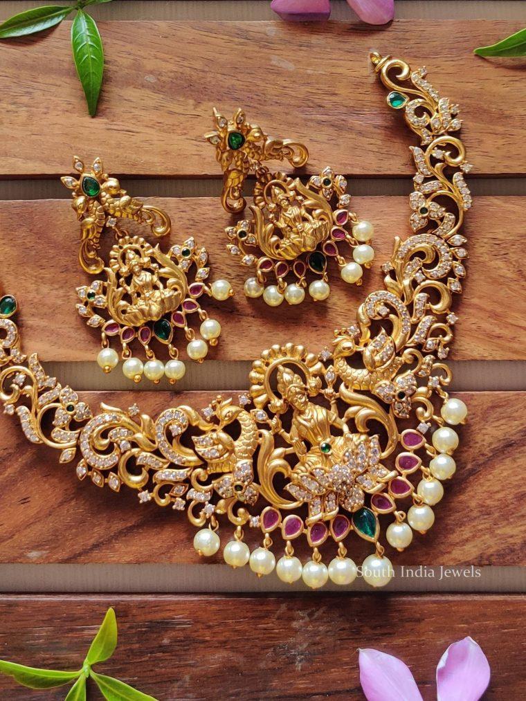 Traditional Temple Lakshmi Design Choker