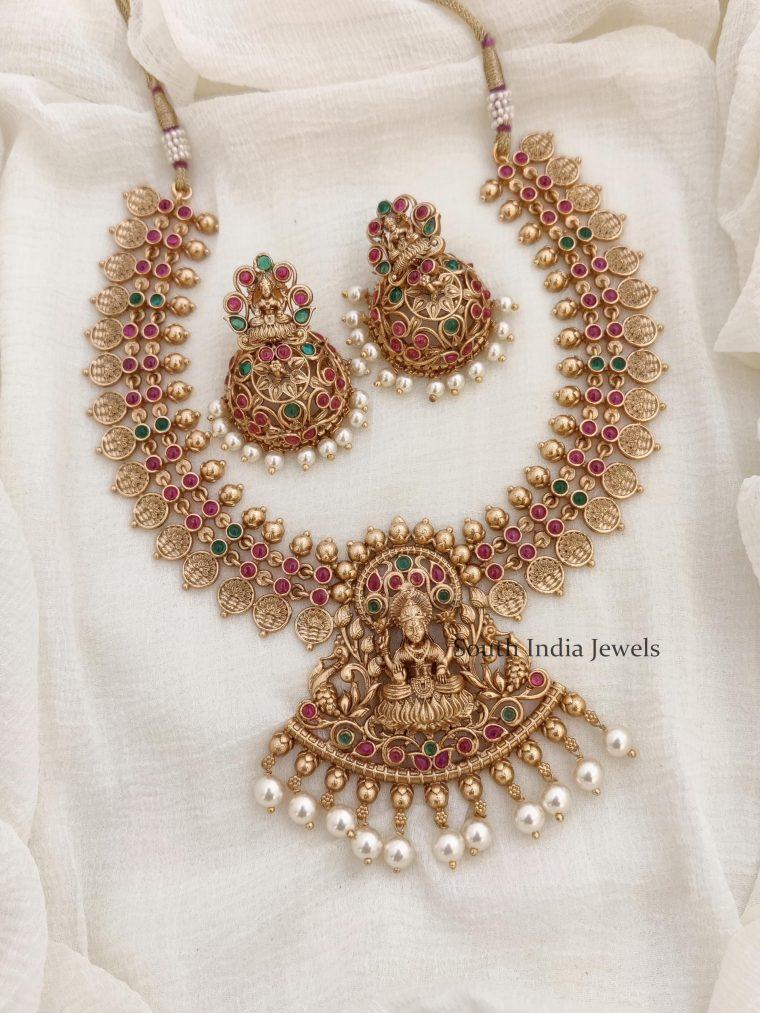 Traditional Temple Lakshmi Necklace