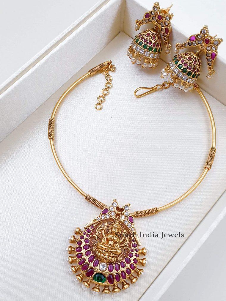 Tremendous Lakshmi Design Necklace Set