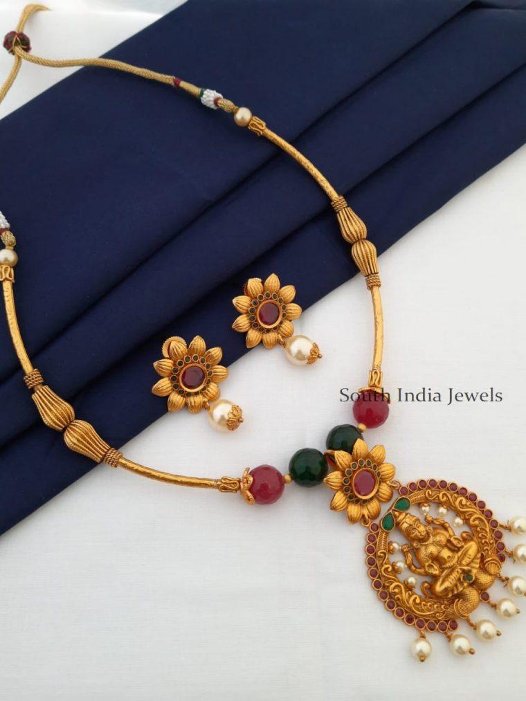 Trendy Lakshmi Pendant Necklace