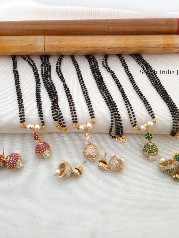 Trendy Mangal Sutra with Jhumka Pendant