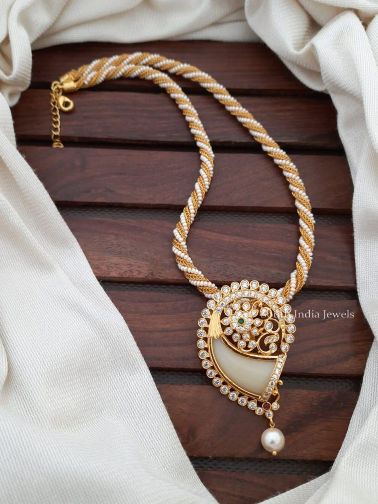 Trendy Pearl Chain With Pendant