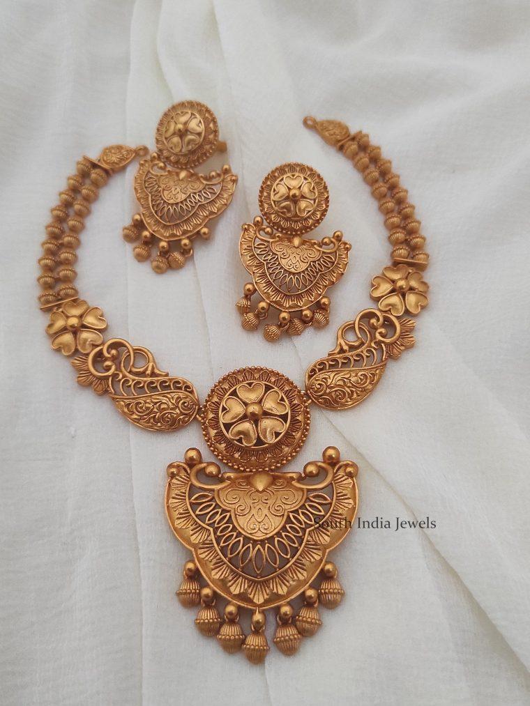 Unique Matte Finish Necklace