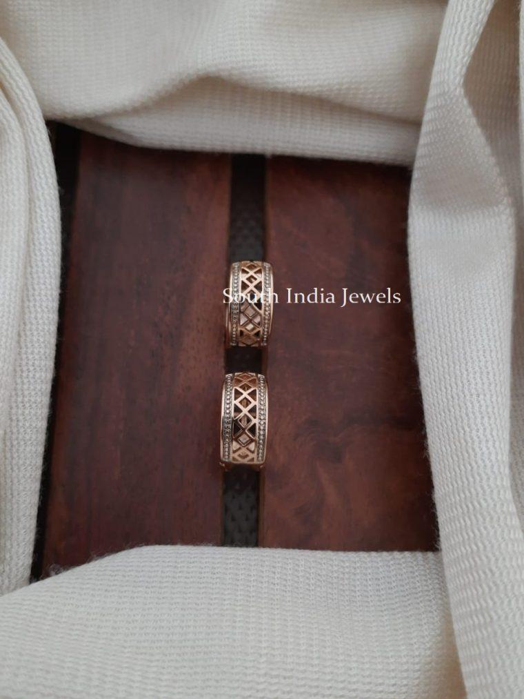 elegant design cz sone earrings
