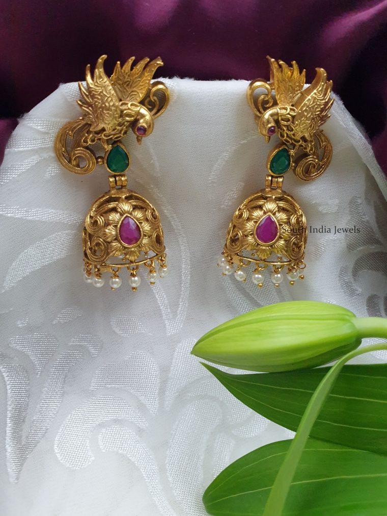 Antique-Gold-Finish-Jhumkas