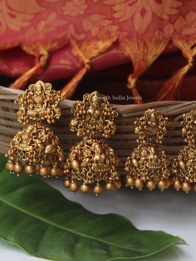 Antique Lakshmi Design Jhumkas (2)