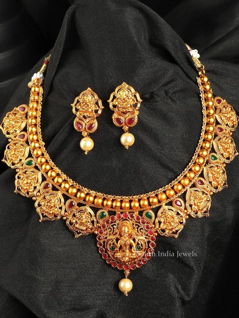 Antique Temple Lakshmi Choker Set