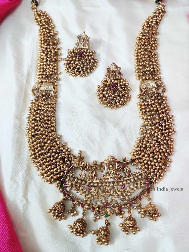 Beautiful-Bridal-Golden-Beads-Haram