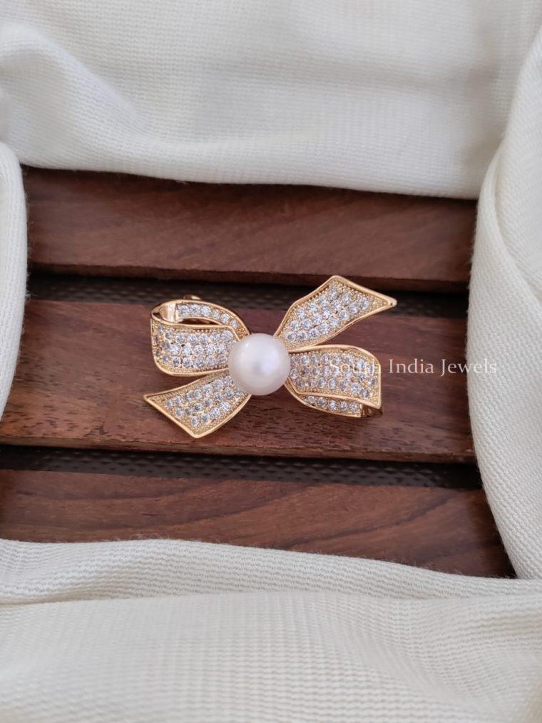 Beautiful CZ Stone Saree Pin