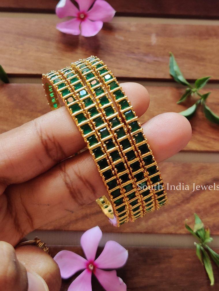 Beautiful-Emerald-AD-Bangles-Set-of-4