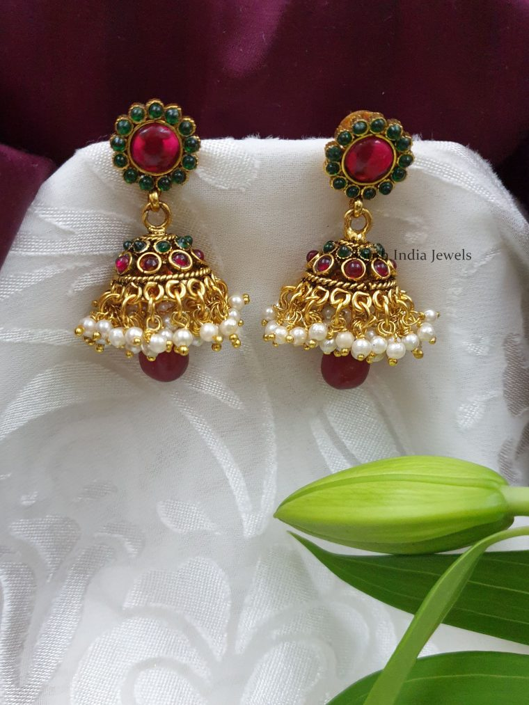 Beautiful-Floral-Design-Jhumkas