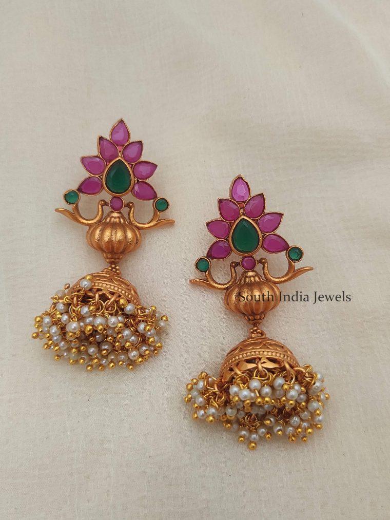 Beautiful-Flower-Design-Jhumkas