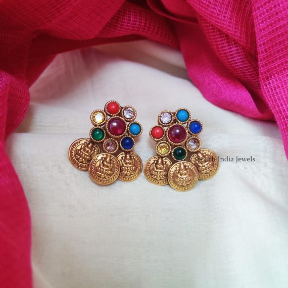 Beautiful-Lakshmi-Coin-Earrings