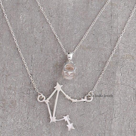 Beautiful Libra Layered Necklace (2)..