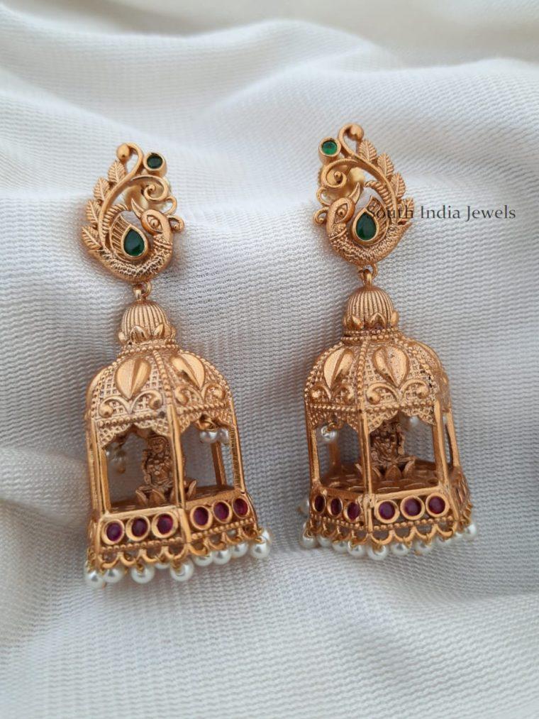 Beautiful-Matte-Finish-Lakshmi-Jhumka