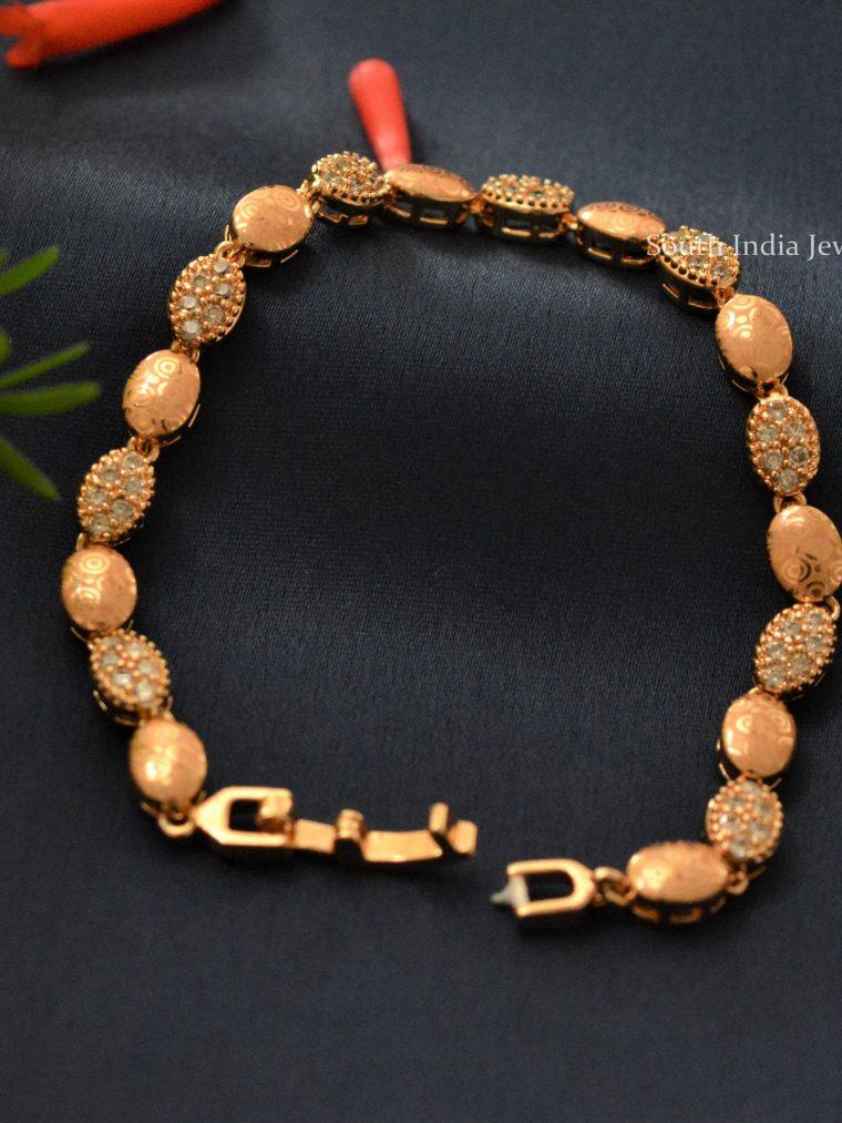 Beautiful Office Wear Rose Gold Bracelet